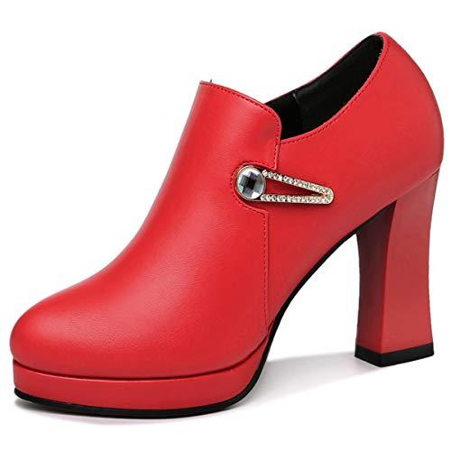 shoes In ladies AJUNR heels heels wedding shoes Women's autumn Work women's gules shoes high Ladies YHHqvIA