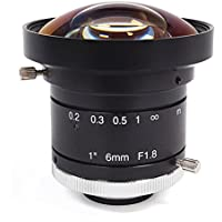 GOYO 1, 6mm, F1.4, Manual Iris C-Mount Lens, 3 Megapixel Rated, MOD: 300 mm