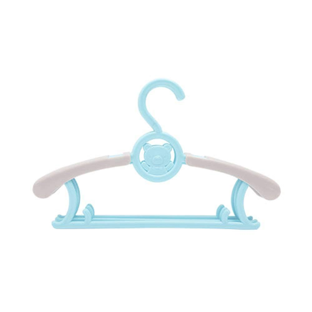 Azul Fanmuran 5PCs Ajustable Perchas retr/áctil Beb/é ni/ños pl/ástico Antideslizantes Resistentes Perchas flexibles Infantiles pl/ástico Perchero para ropa infantil y adultos colgador de ropa