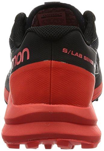 Salomon Heren S-lab Gevoel Ultra Trail Running Sneaker Schoen Zwart, Racing Rood, Wit