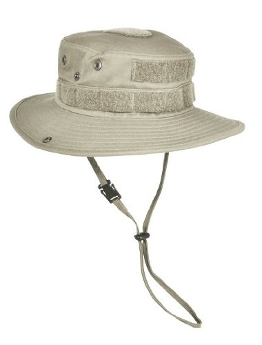 HAZARD 4 SunTac Cotton Boonie Hat with Molle, Desert Khaki, Large