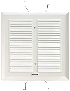 broan s97011308 spring mounted bathroom fan covergrille assembly white