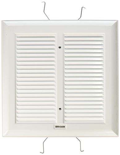Broan S97011308  Spring Mounted Bathroom Fan Cover/Grille Assembly, -
