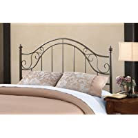 Hillsdale Furniture 1681HFQR Clayton Headboard with Rails, Full/Queen, Matte Brown
