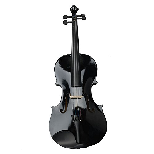 "New 16"" Student Adults Acoustic Viola + Case + Bow + Rosin for Beginner Black"