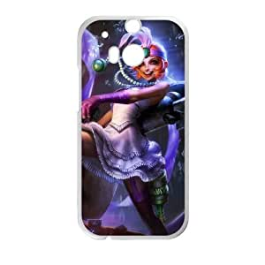 HTC One M8 Cell Phone Case White League of Legends Mafia Jinx OIW0430647