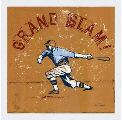 - Poster Palooza Framed Grand Slam- 12x12 Inches - Art Print (Classic White Frame)