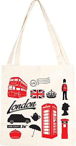 Bag Tote Tote Bag Icons London Tote Cotton Cotton Icons Cotton London Icons London YE7Zqwd