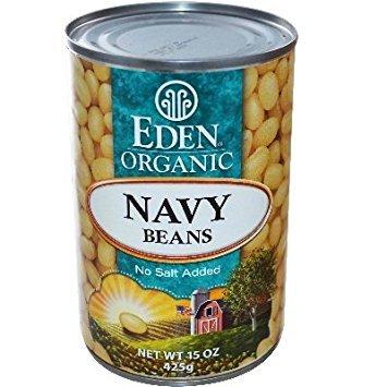EDEN FOODS BEAN CAN NAVY NS ORG, 15 OZ Eden Organic Navy Beans