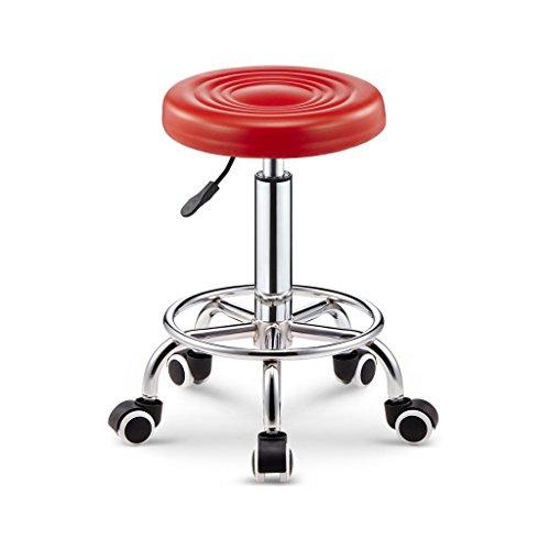 CXM-Chair / Stool ALUS- Bar Tabouret Bar Chaise Pivotante Tlsige Chaise Chaise De Beaut Tabouret Haut Tabouret Banc Tabouret Tabouret De Beaut Tabouret (Color : Red)