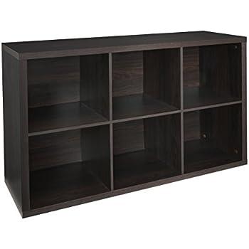 Marvelous ClosetMaid 4109 Decorative 6 Cube Storage Organizer, Black Walnut