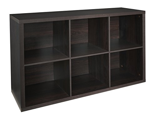 ClosetMaid 4109 Decorative 6-Cube Storage Organizer, Black Walnut (Best Finish For Exterior Wood Threshold)