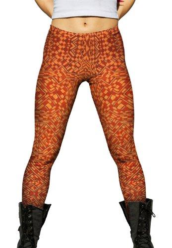 (Yizzam- African Tribal Kuba Cloth Pattern- Ladies Womens Leggings -2X)