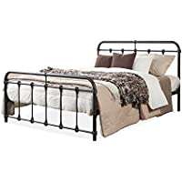 Wholesale Interiors Mandy Shabby Iron Metal Platform Bed, Queen, Dark Bronze