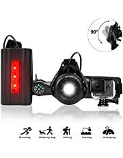Running Chest Light Night Runners, WESTLIGHT Updated 90° Adjustable USB Rechargeable Sports Lamp, 500 Lumen 3 Lighting Modes Torch with Compass User for Gopro Action Camera, Jogging, Walking, Hiking