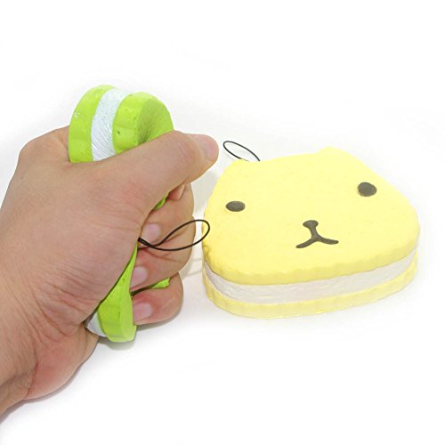 Price comparison product image Squishy Jumbo Otter Cell Phone Charms Bag Strap Pendants Kids Toy Photography Cabinet Decor Pack of 2