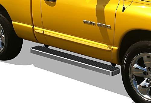 APS iBoard (Silver 5 inches) Running Boards   Nerf Bars   Side Steps   Step Rails for 2002-2008 Dodge Ram 1500 Regular Cab & 2003-2009 Ram - Regular Dodge Ram 02 Cab
