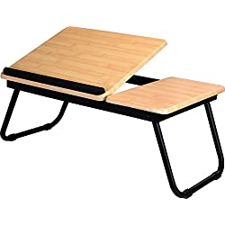 Utopia Home - Foldable Laptop Table for Bed - Adjustable Tilt Angle - Multi-Purpose Table Kids Table/Breakfast Table