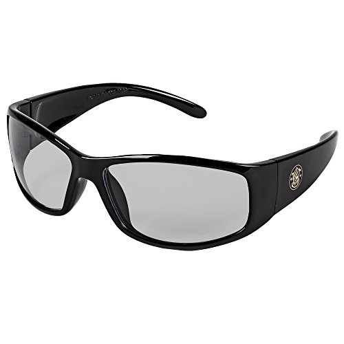Smith and Wesson Safety Glasses (21306), Elite Safety Sunglasses, Indoor/Outdoor Lenses with Black Frame, 12 ()