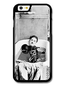 AMAF ? Accessories Charlie Chaplin Having Bath Black & White case for iPhone 6