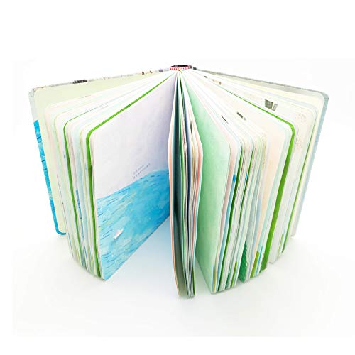 Siixu Colored Notebooks, Unique Personal Diary Journals to Write in for Women/Girls, No Lines, Hardcover Color Designed, Yellow, 5 x 7 in, 256 Pages Unlined -