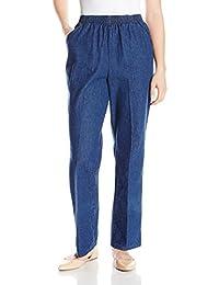 Chic Classic Collection pantalón de algodón con Cintura elástica para Mujer
