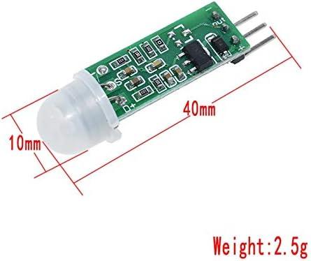 TECNOIOT 5pcs HC-SR505 Mini Infrared PIR Motion Sensor Precise Infrared Detector SR505