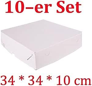 Decoración para Tartas de 10 Cajas de cartón cuadradas para Tartas ...