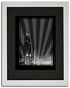 Address Hotel Down Town- Black And White No Text F02-nm (a1) - Framed