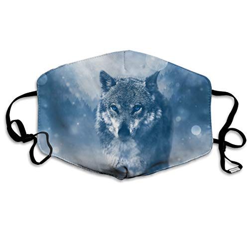 Animals Wolf Flu Dust Masks Reusable Cotton Breathable Safety Respirator for Outdoor Cycling Face Earloop Masks Dust Pollen Flu Germs Allergens Masks ()