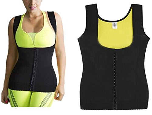 Women's Slimming Vest Hot Sweat Body Shaper Shirt for Weight Loss Sauna Tank Top Neoprene Vest with zip