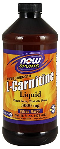 NOW Sports L-Carnitine Liquid 3000 mg, Citrus, 16-Ounce