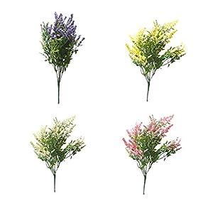 Dreamseeker Plastic Plants Decorations, Artificial Lavender Bouquet, Fake Lavender Plant for Wedding, Home Decor, Office, Garden, Patio Decoration 116