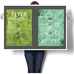 """Art-Canvas Prints Modern brochure Cover and letterhead Template Low Polygon geomet Print Paintings for Home Wall Office Decor 32""""x36"""""""
