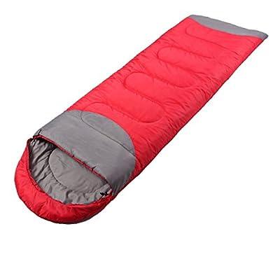 Extérieur sac de couchage adulte bas coton printemps chaud épais et léger déjeuner de camping seul sac de couchage en coton Intérieur ( Couleur : Rouge , Poids : 1.8KG )