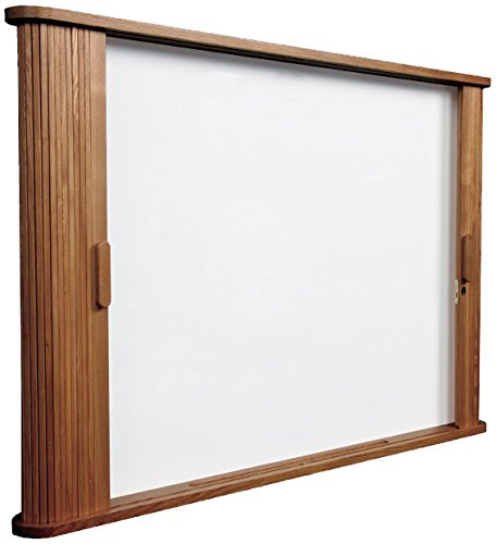 Balt 25010 Conference Room Cabinet, Magnetic Dry-Erase Board, 44w x 32h x 4d, Med Oak Conference Wall Cabinet
