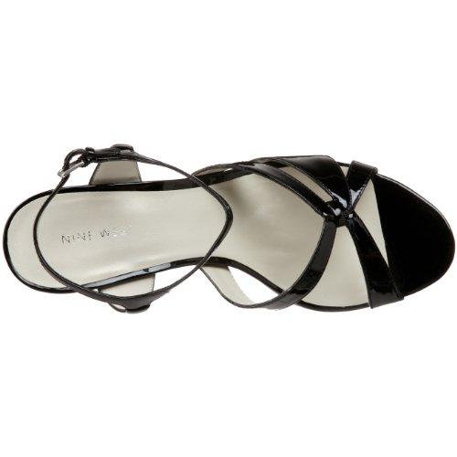NINE WEST - Damen Knöchelriemen Sandale NWYASAMIN BLACK Hacke: 8.5 cm