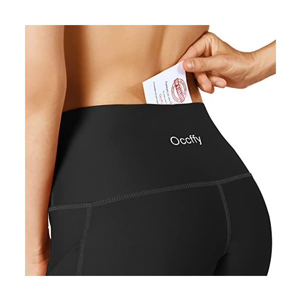 423d71da715d8 Occffy High Waist Out Pocket Yoga Pants for Women Tummy Control ...