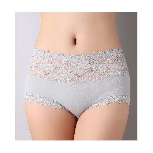 Rey&Qing Haute Taille Abdomen Hanches Mesdames Sous-Vêtements De Coton Respirant Tissu Coton Entrejambe Mémoires Code Gras