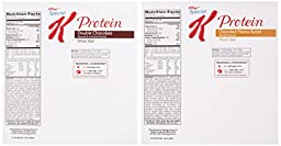 Kellogg\'s Special K Protein Meal Bar, Assorted, 1.59 Ounce (Pack of 32) (16 Double Chocolate, 16 Chocolate Peanut Butter)