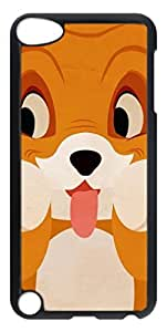 Black Hard Plastic Case for iPod Touch 5 5th,Cute Dog Case Back Cover for iPod Touch 5 5th