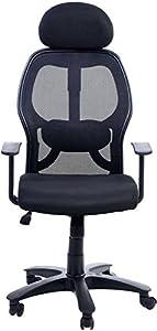 Nice Goods Fabric Office Arm Chair (Black)