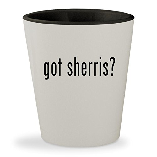 Oloroso Sherry (got sherris? - White Outer & Black Inner Ceramic 1.5oz Shot Glass)