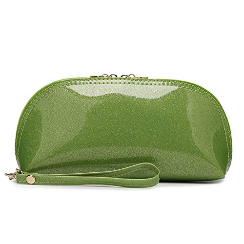 Moonnight Store Women Glossy Clutch Patent Leather Lady Banquet Bag Fashion Multicolor Shell Wallet Female Wrist Package Wristband Handbag Cheap (flash green) - Green Patent Embossed Handbag