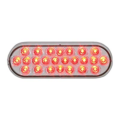 GG Grand General 76477 Red/Clear 2 Oval Pearl Led Strobe Light, Lens, 9~36V: Automotive