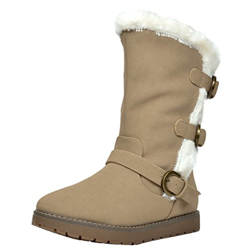 Dream Pairs Girl's Toddler/Little Kid/Big Kid Korel/Kutton Fur Lined Winter Snow Boots - stylishcombatboots.com