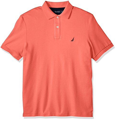 Nautica+Men%27s+Classic+Fit+Short+Sleeve+Solid+Soft+Cotton+Polo+Shirt%2C+Dreamy+Coral%2C+X-Large