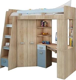 Newjoy Kinder Jugend Komplettzimmer Tower Mit Hochbett Schreibtisch