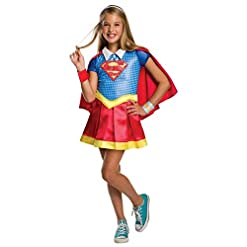 Rubie's DC Super Hero Girls Hoodie Dress Childrens Costume, Supergirl, Large