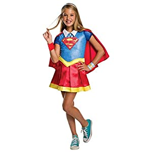 - 41Siz 2BhXnyL - Rubie's DC Super Hero Girls Hoodie Dress Childrens Costume, Supergirl, Large